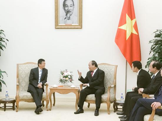 越南总理阮春福期待马云点燃越南年轻人的创业激情